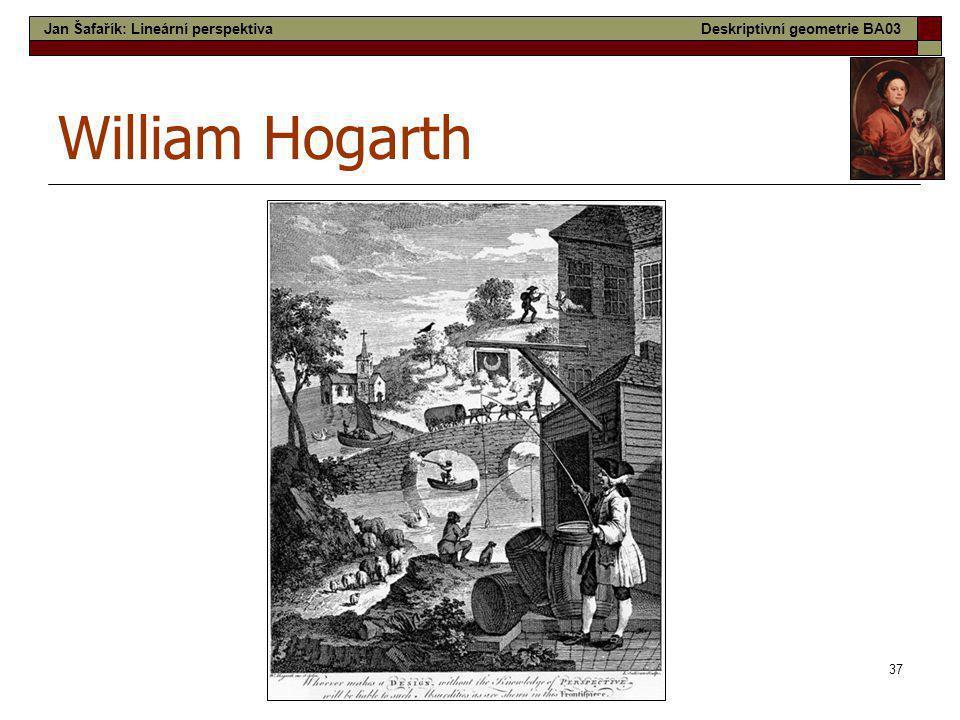 37 William Hogarth Jan Šafařík: Lineární perspektivaDeskriptivní geometrie BA03