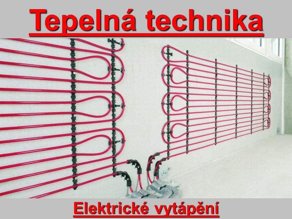 Podlahové vytápění topnými kabely *Topné kabely jsou zality do betonové podlahy *Realizace-akumulační otopná soustava -přímotopná soustava *Výhody-vysoká účinnost -rovnoměrné využití tepla -snadné vytvoření tepelné pohody Přímotopná soustava 1.podkladový beton 2.polystyrén 3.betonová vrstva 4.topné kabely 5.dlažba 6.napojení izolace (izolace stěn, dilatace)