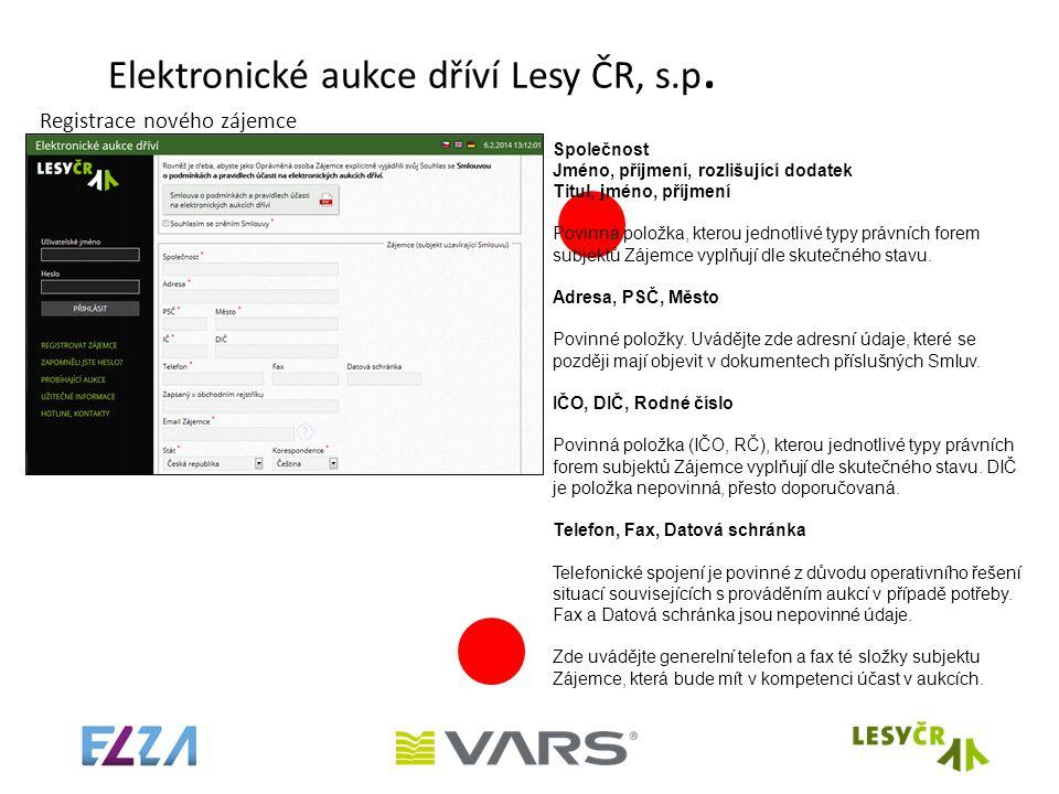 Elektronické aukce dříví Lesy ČR, s.p.
