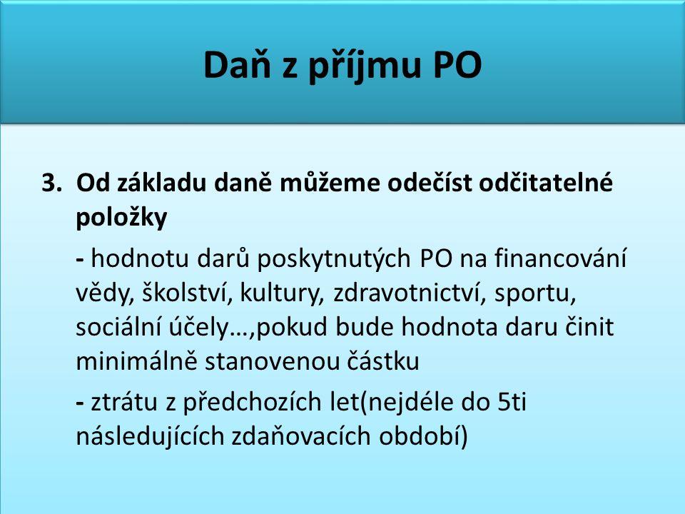 Daň z příjmu PO 3.