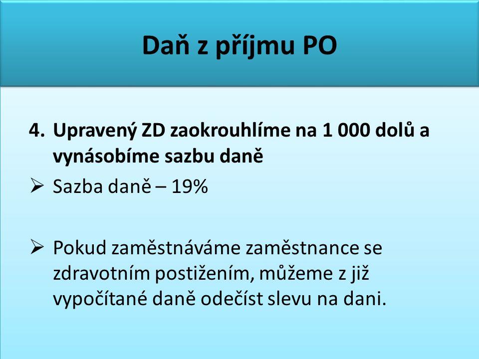 Daň z příjmu PO 4.