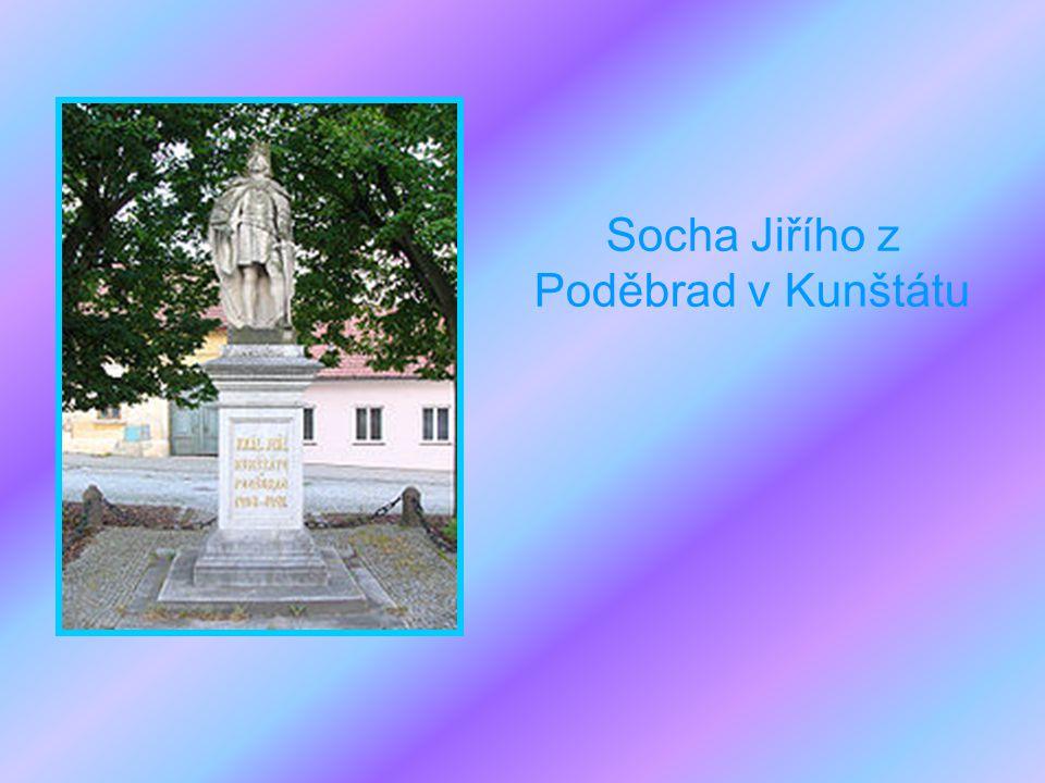 Socha Jiřího z Poděbrad v Kunštátu
