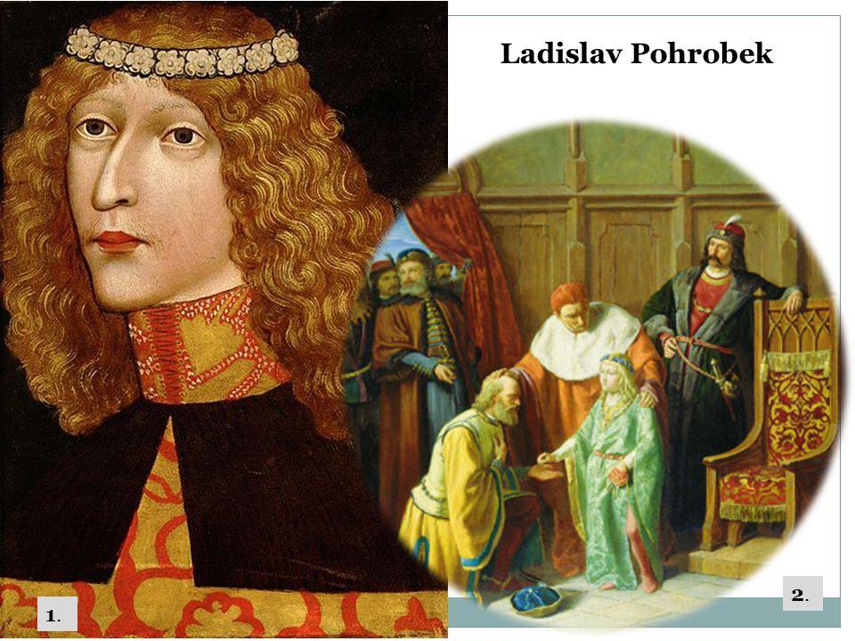 Jiří z Poděbrad – husitský král  1458-1471 zvolen českým králem  Opíral se o kališnickou církev (uznával kompaktáta), nižší šlechtu a měšťanstvo  1466 – papež jej prohlásil kacířem  Křížová výprava – v čele papežského vojska Matyáš Korvín (poražen) x porušil dohodu