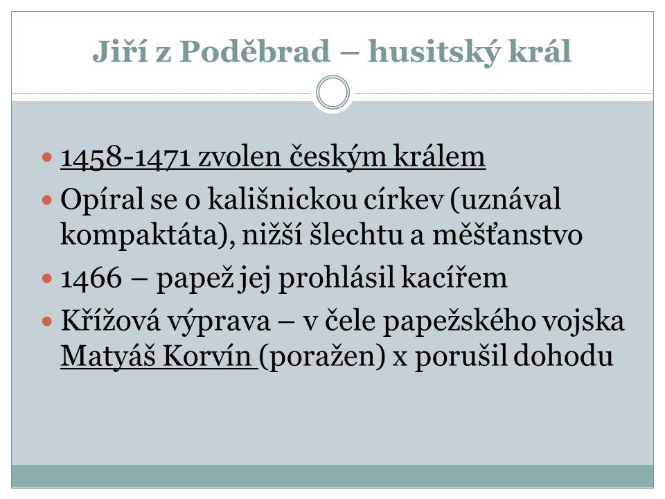 Jiří z Poděbrad a 2. manželka Johanna z Rožmitálu 3.3.4.