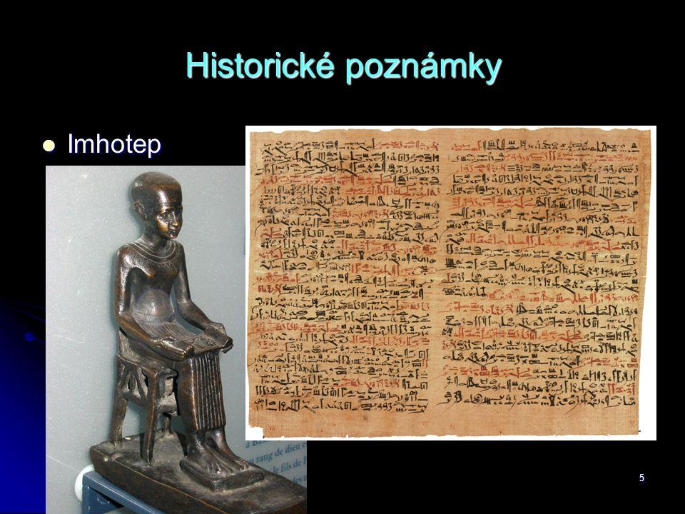 5 Historické poznámky  Imhotep