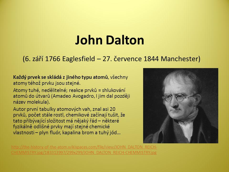 John Dalton (6.září 1766 Eaglesfield – 27.