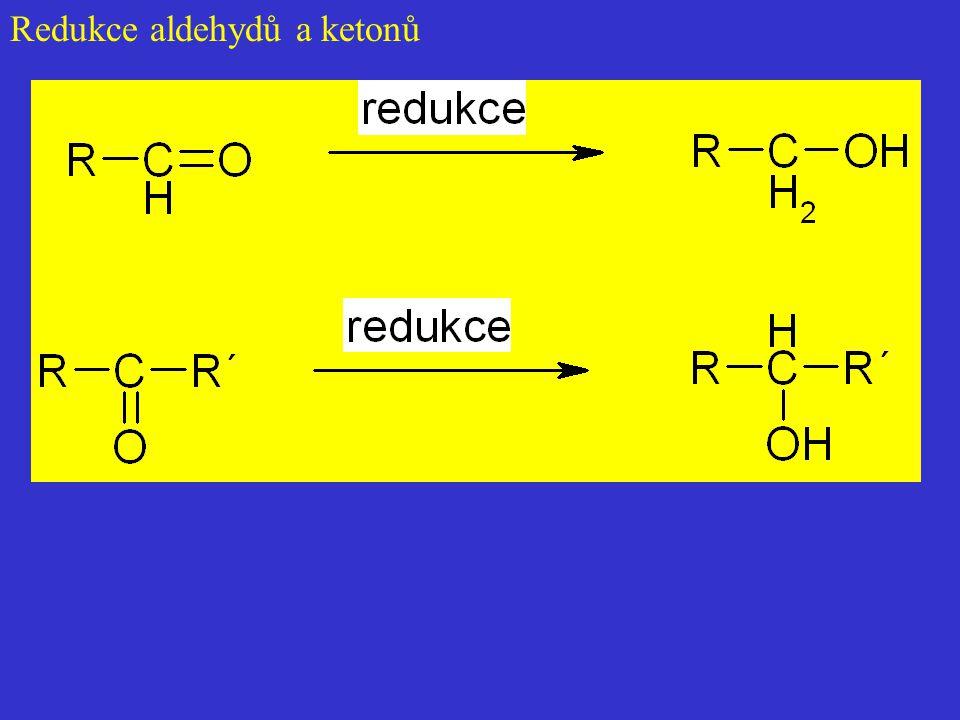 Redukce aldehydů a ketonů
