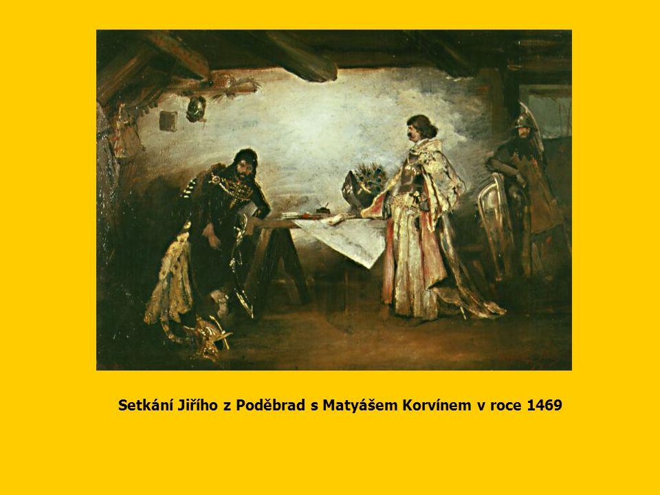 Setkání Jiřího z Poděbrad s Matyášem Korvínem v roce 1469