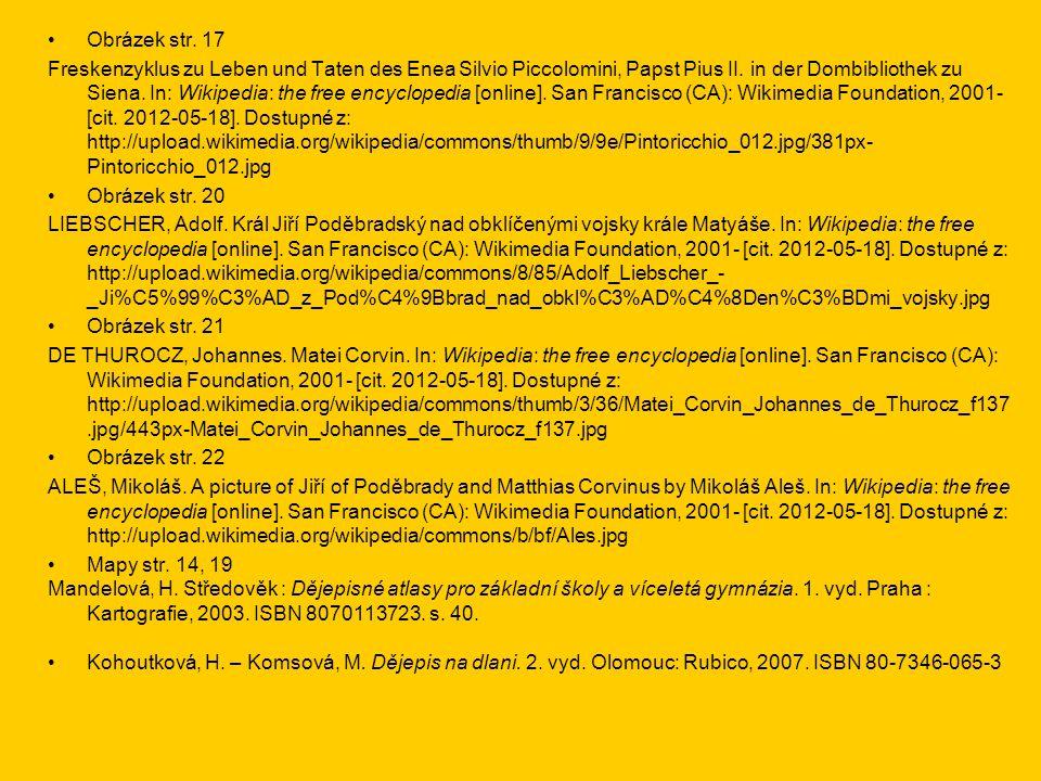 •Obrázek str.17 Freskenzyklus zu Leben und Taten des Enea Silvio Piccolomini, Papst Pius II.
