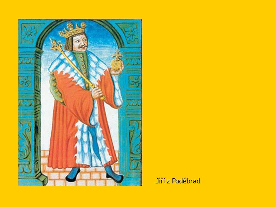 Vnitřní politika Jiřího z Poděbrad •rozkvět hospodářství (narušeno husitskými válkami) -obnova dolování stříbra v Kutné Hoře -podpora řemesel a obchodu (výsady královským městům) -péče o bezpečnost obchodních cest (zásahy proti lapkům)