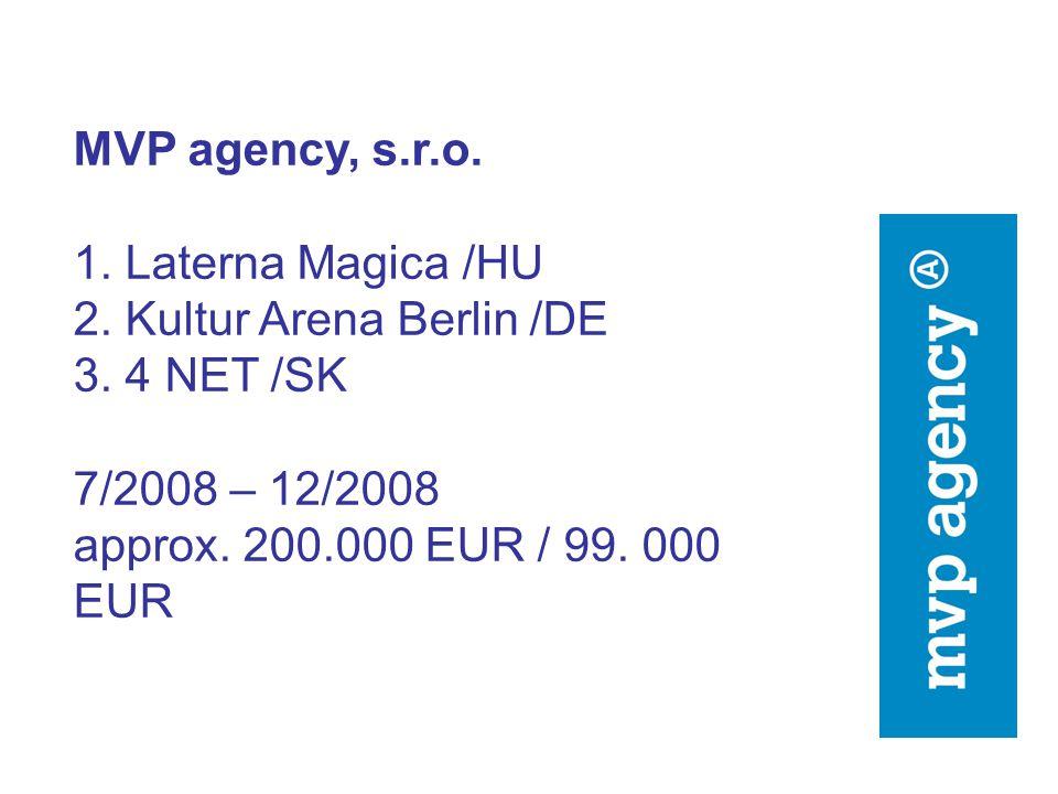 Odbor informování o evropských záležitostech Úřad vlády ČR Evropa pro občany /Akce 4 Projekt: Navždy ztichlé hlasy Voix Etouffées, Zentrum für verfemte Musik, exil.