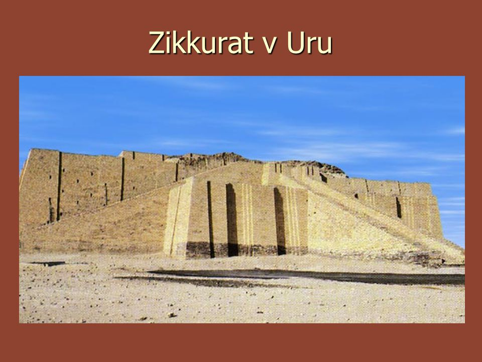Eridu  Nejstarší chrám na světě 5. tisíciletí př.n.l.