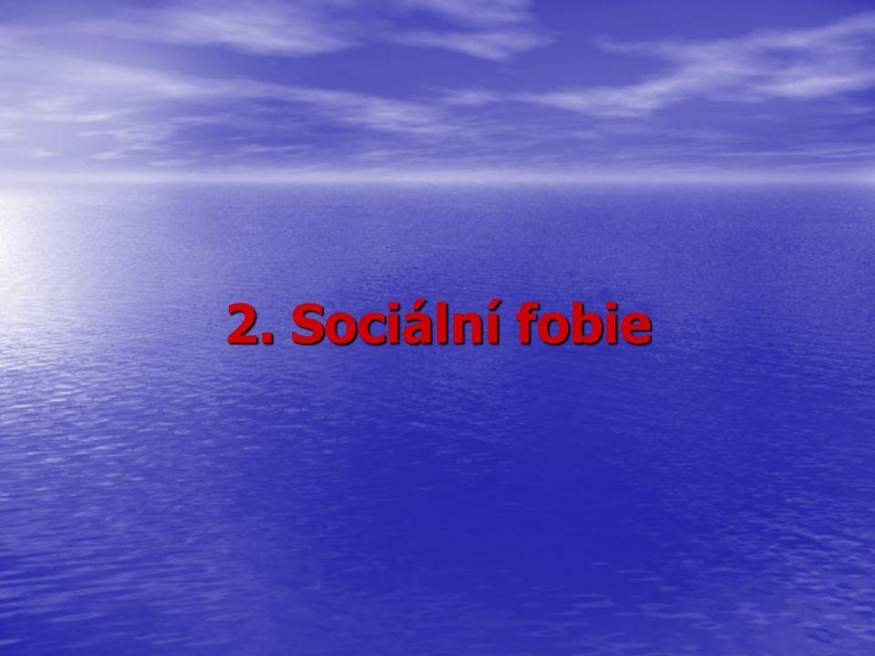 2. Sociální fobie