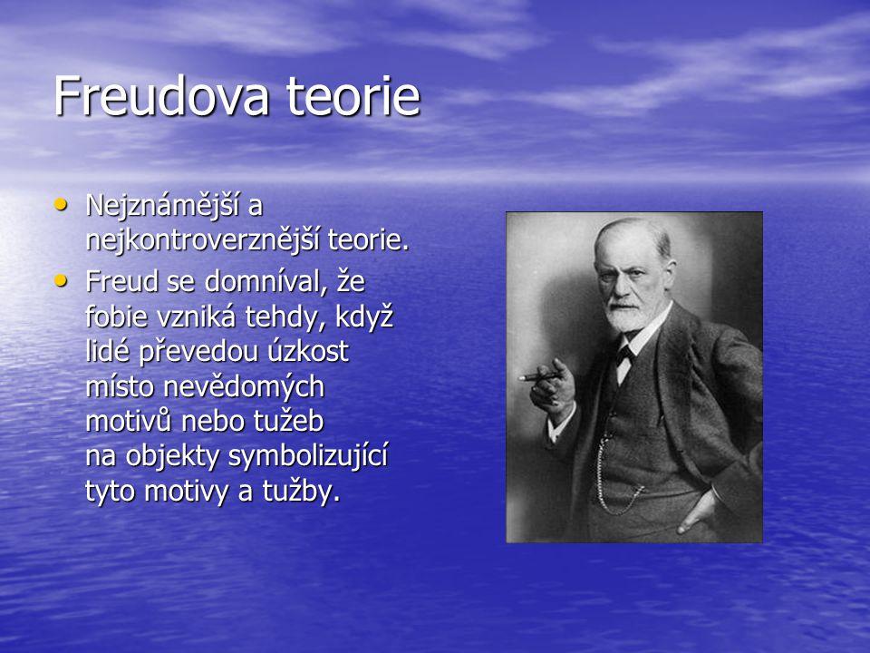Freudova teorie • Nejznámější a nejkontroverznější teorie.