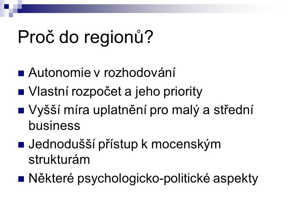 Proč do regionů.