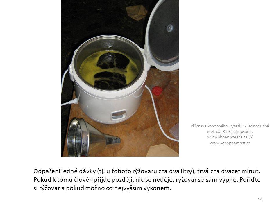 Odpaření jedné dávky (tj.u tohoto rýžovaru cca dva litry), trvá cca dvacet minut.