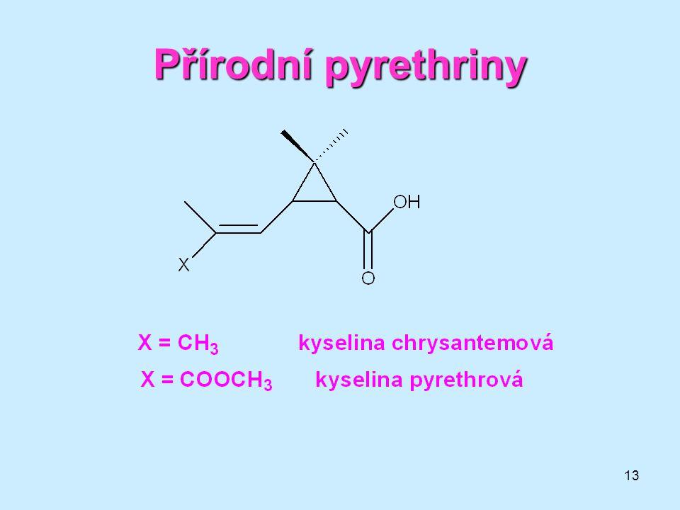13 Přírodní pyrethriny