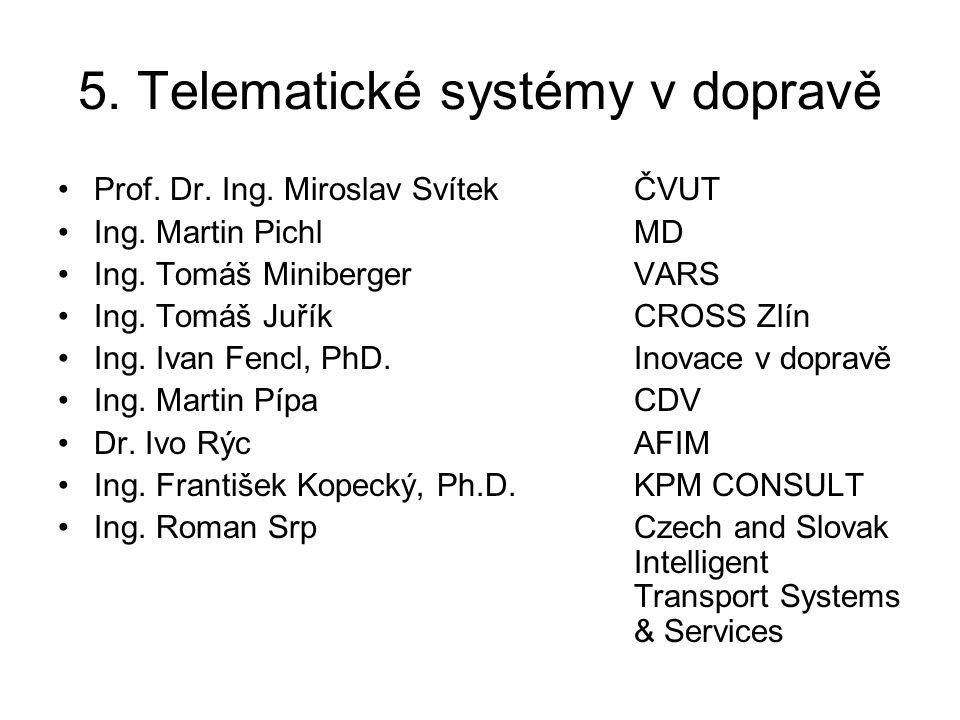 5.Telematické systémy v dopravě •Proč ITS .