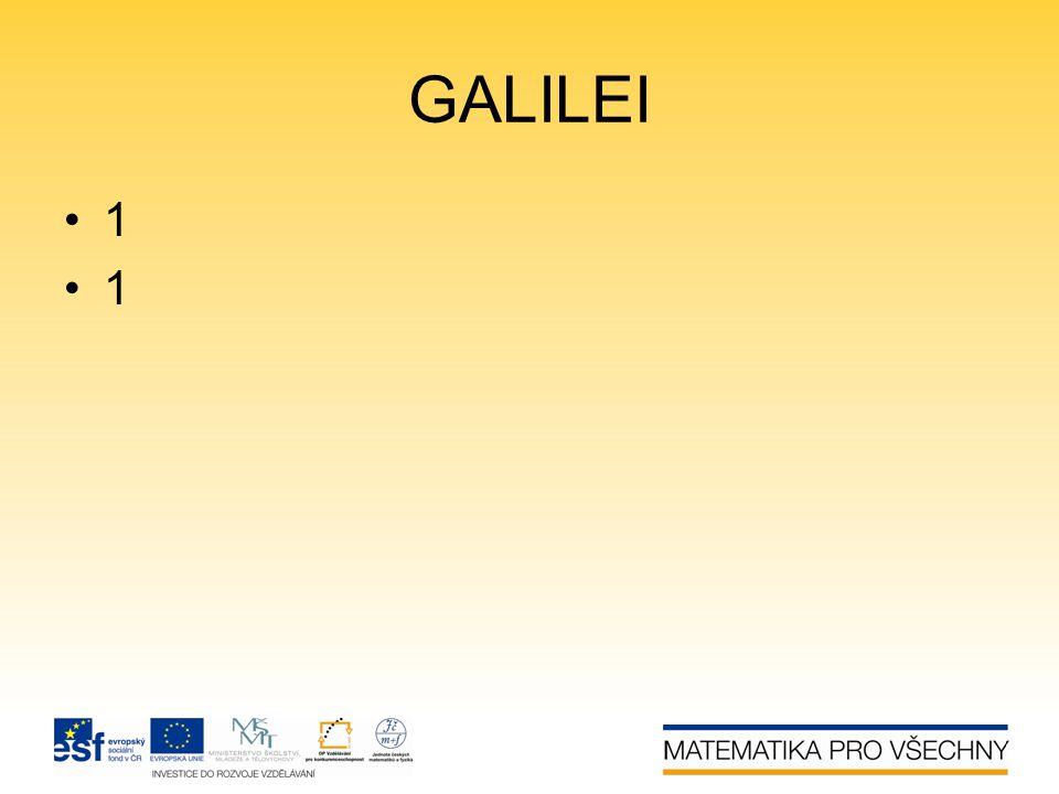 GALILEI •1•1•1•1