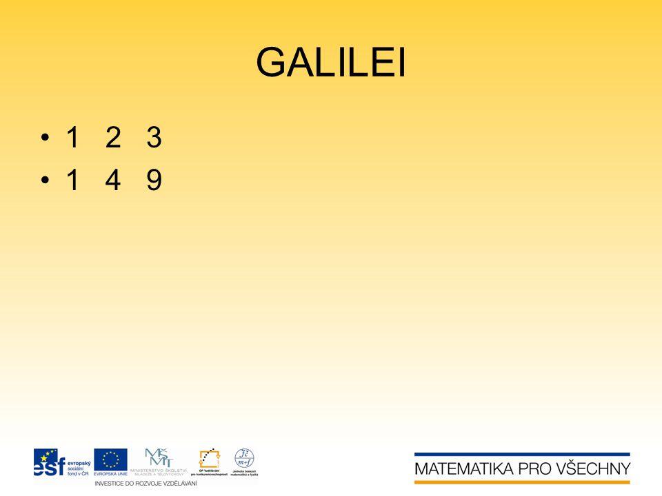 GALILEI •1 2 3 •1 4 9