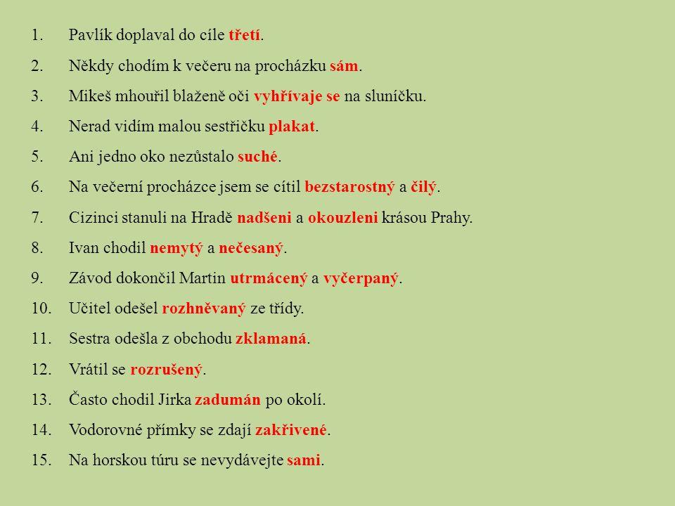 Výrazy, které nejsou větnými členy: předložky spojky částice odkazující zájmena / příslovce 5.