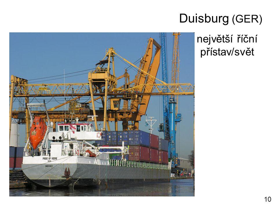 Duisburg (GER) největší říční přístav/svět 10