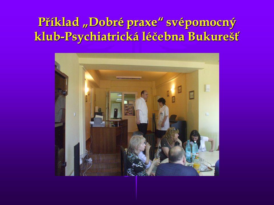 """Příklad """"Dobré praxe"""" svépomocný klub-Psychiatrická léčebna Bukurešť"""