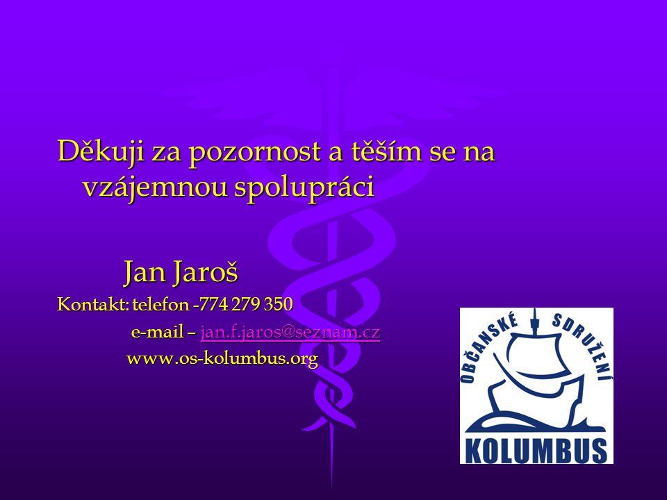 Děkuji za pozornost a těším se na vzájemnou spolupráci Jan Jaroš Jan Jaroš Kontakt: telefon -774 279 350 e-mail – jan.f.jaros@seznam.cz e-mail – jan.f