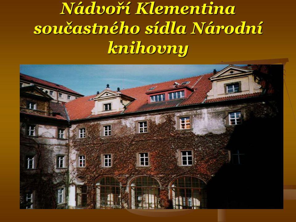 Nádvoří Klementina součastného sídla Národní knihovny