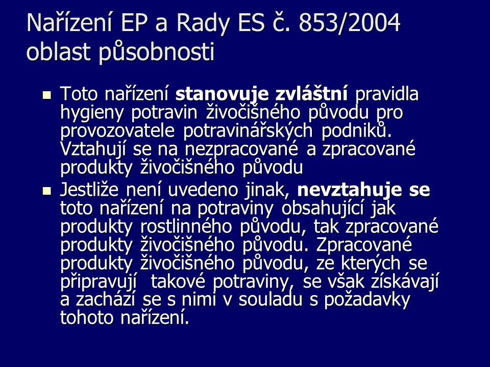 Nařízení EP a Rady ES č.