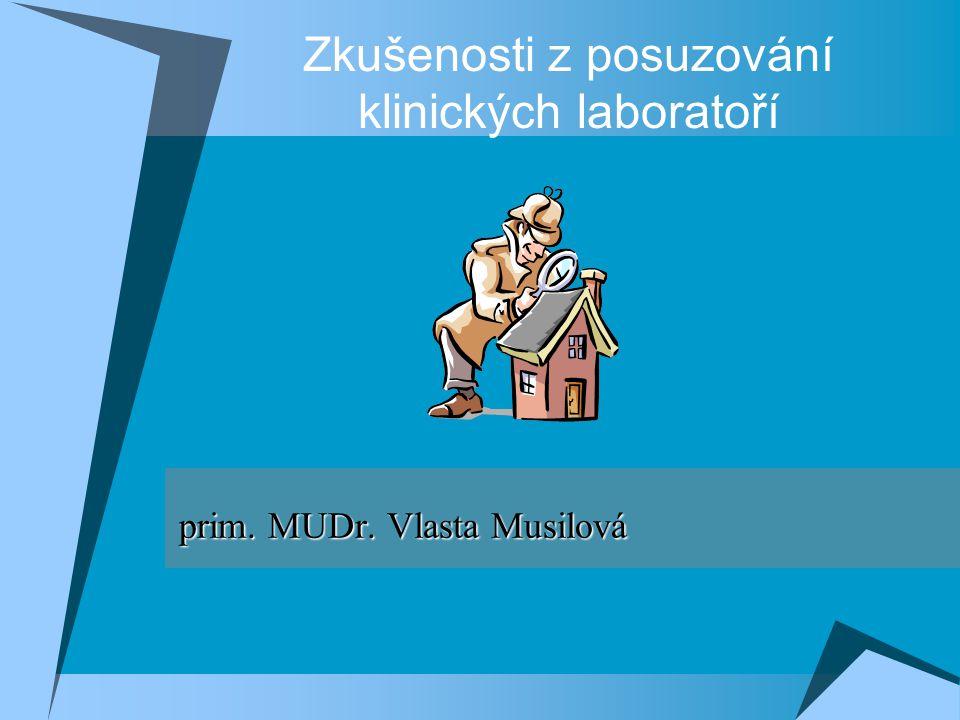 Zkušenosti z posuzování klinických laboratoří prim.