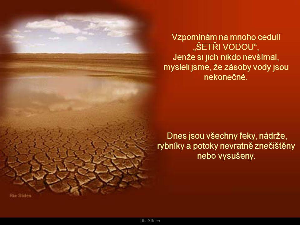 Ria Slides V některých zemích ještě zbývají koridory vegetace se zbytky řek, které jsou hlídány tamními armádami.