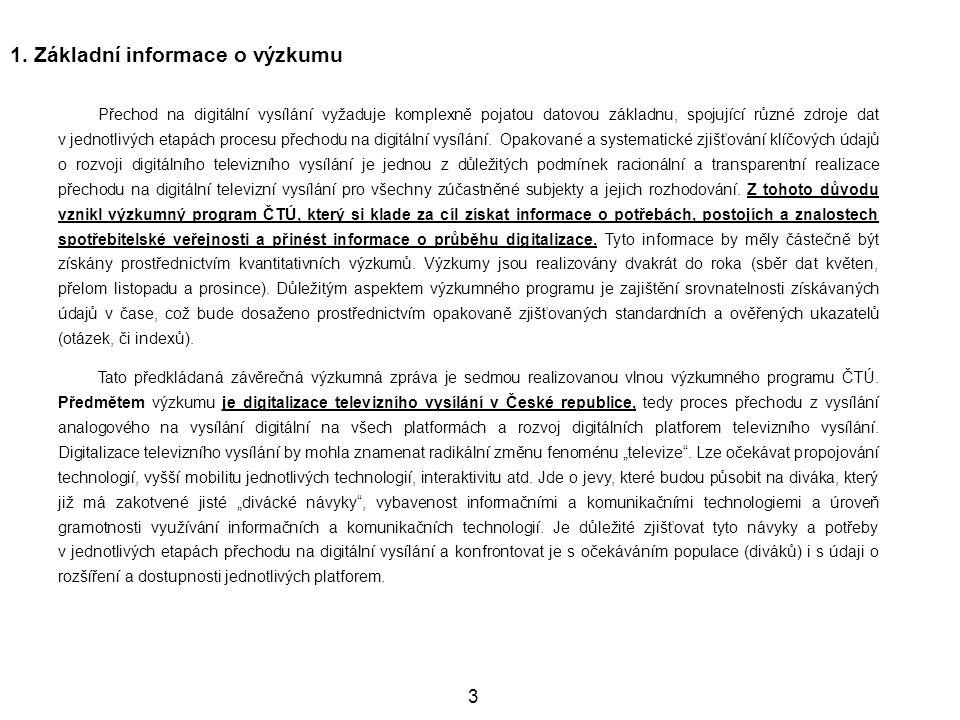 134 Pokrytí obce respondenta televizním signálem II.