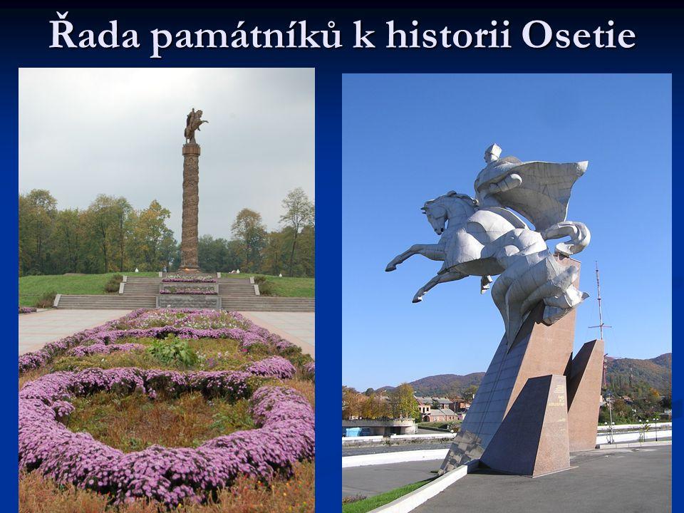 Řada památníků k historii Osetie