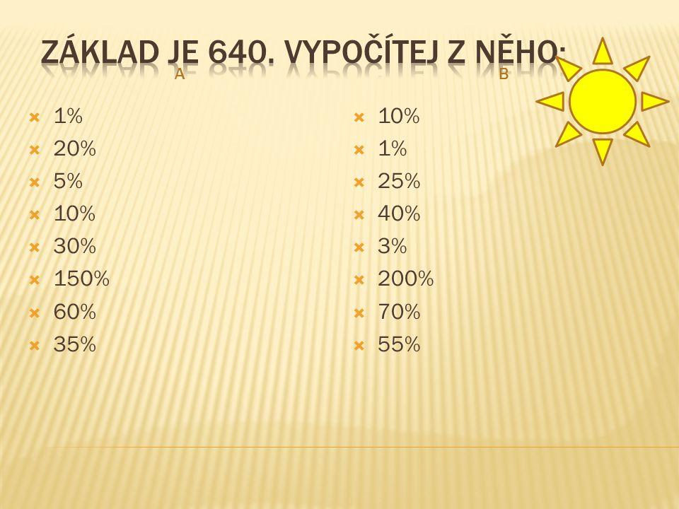 AB  1%  20%  5%  10%  30%  150%  60%  35%  10%  1%  25%  40%  3%  200%  70%  55%