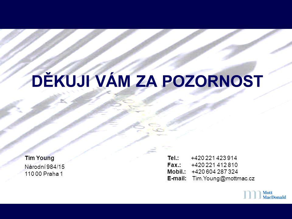 DĚKUJI VÁM ZA POZORNOST Tim Young Národní 984/15 110 00 Praha 1 Tel.: +420 221 423 914 Fax.: +420 221 412 810 Mobil.: +420 604 287 324 E-mail: Tim.You