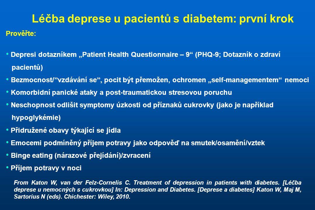 """Prověřte: • Depresi dotazníkem """"Patient Health Questionnaire – 9"""" (PHQ-9; Dotazník o zdraví pacientů) • Bezmocnost/ """" vzdávání se """", pocit být přemože"""