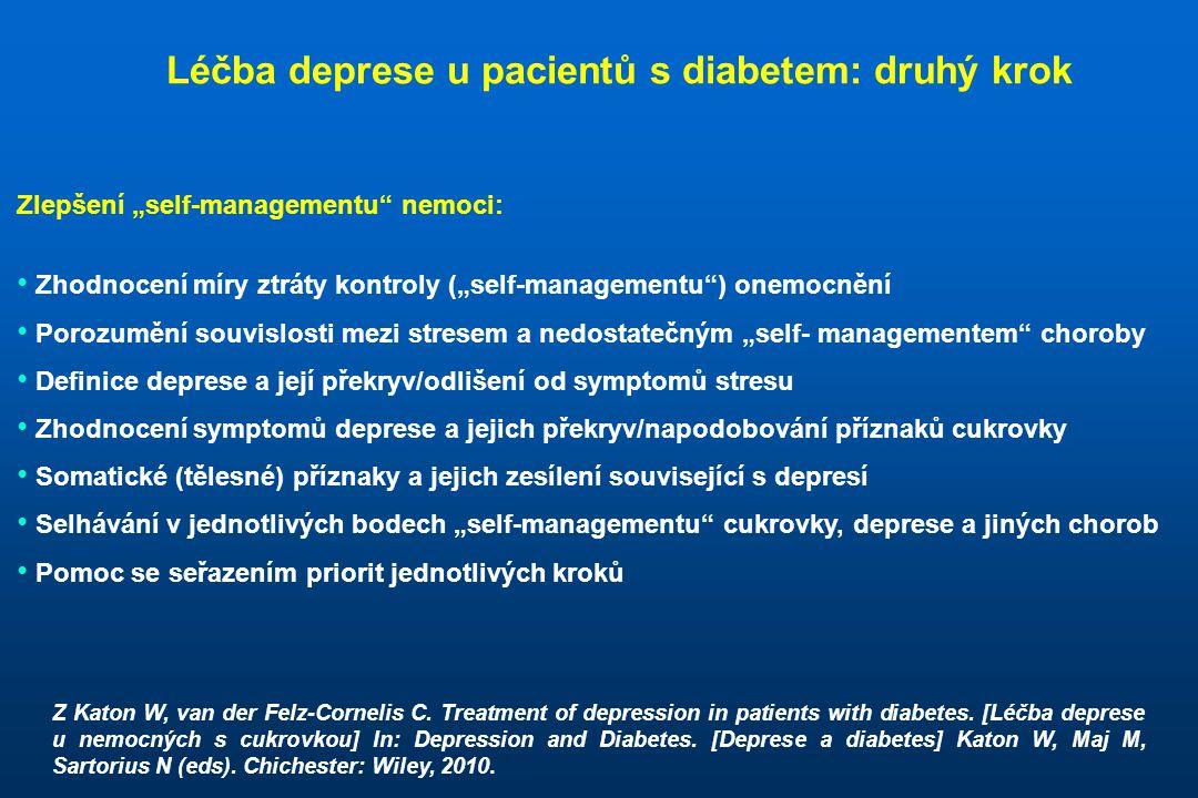 """Zlepšení """"self-managementu"""" nemoci: • Zhodnocení míry ztráty kontroly (""""self-managementu"""") onemocnění • Porozumění souvislosti mezi stresem a nedostat"""