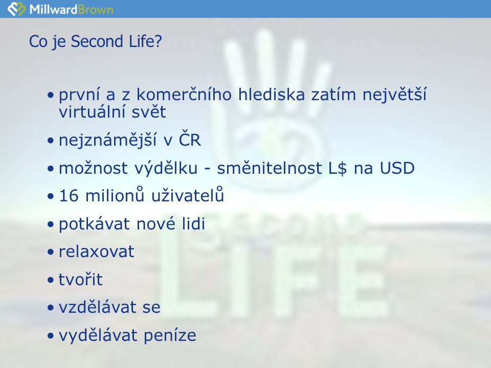 Co je Second Life.