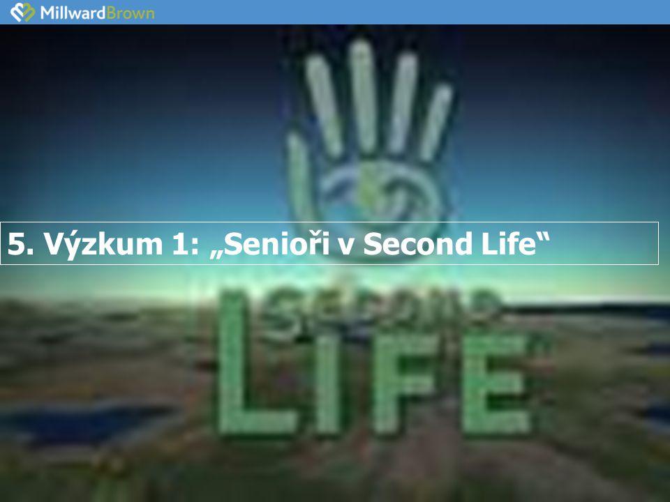 """5. Výzkum 1: """"Senioři v Second Life"""