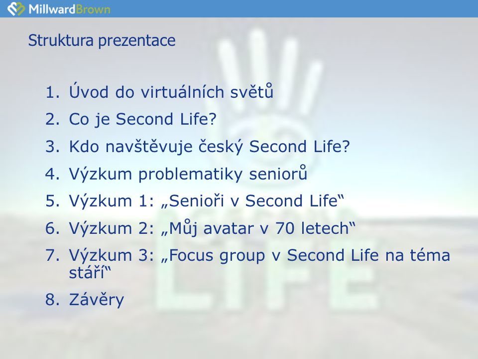 """Doporučení - možné využití SL •Second Life umožňuje svobodně stvořit svoji """"2."""