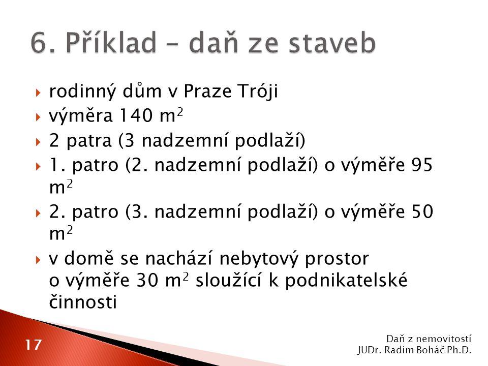  rodinný dům v Praze Tróji  výměra 140 m 2  2 patra (3 nadzemní podlaží)  1.
