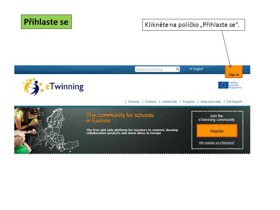 Klikněte na jméno kontaktní osoby z eTwinning Plus, kterou chcete do projektu přidat.