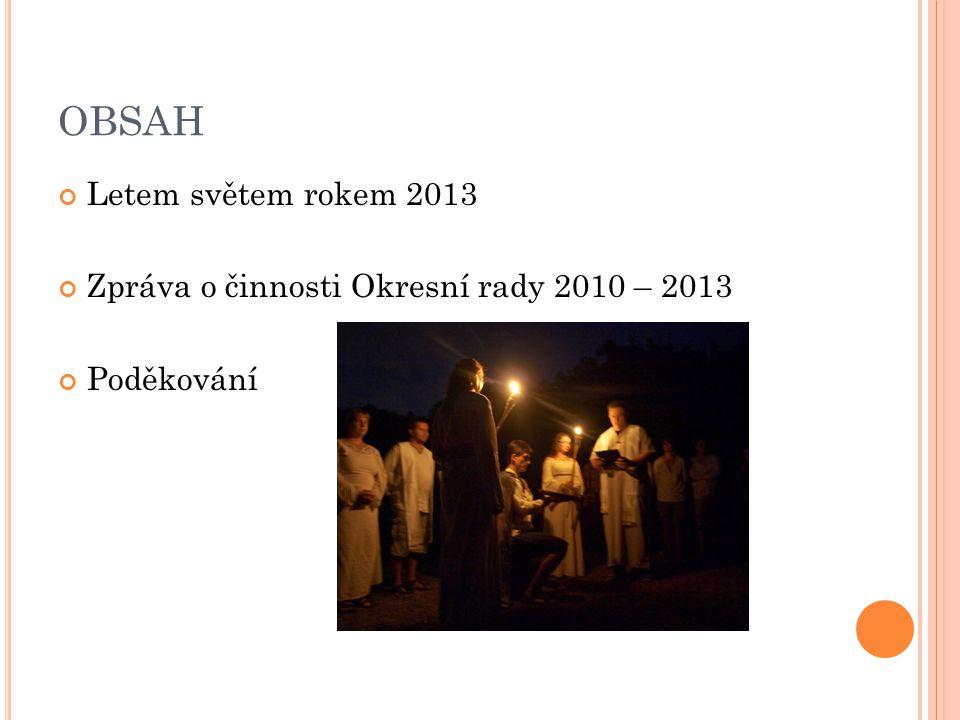 OBSAH Letem světem rokem 2013 Zpráva o činnosti Okresní rady 2010 – 2013 Poděkování