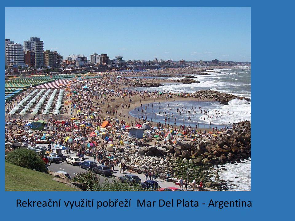 Rekreační využití pobřeží Mar Del Plata - Argentina
