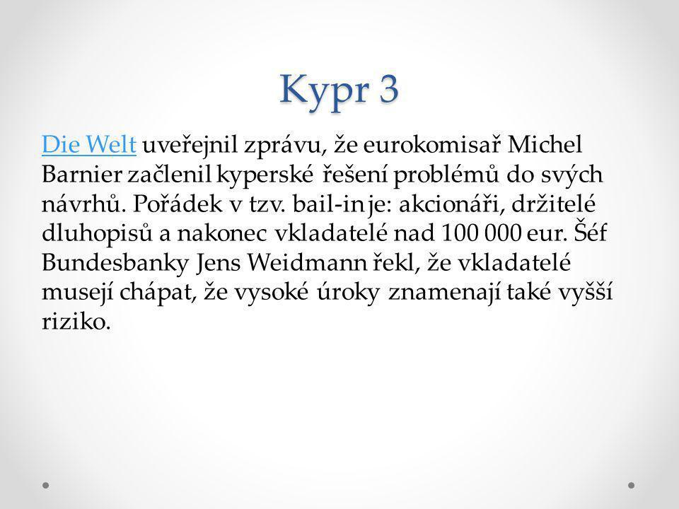 Kypr 4 Chrystia FreelandováChrystia Freelandová, také na Reuters, uveřejnila článek, jenž zasazuje kyperskou krizi do paradoxů dnešní doby.