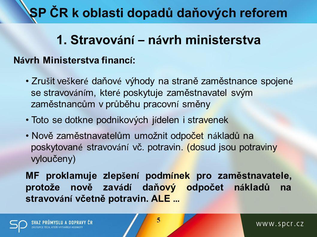 SP ČR k oblasti dopadů daňových reforem 1.