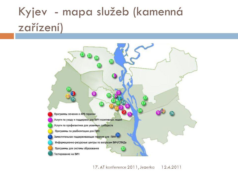 Kyjev - mapa služeb (kamenná zařízení) 12.4.2011 17. AT konference 2011, Jezerka
