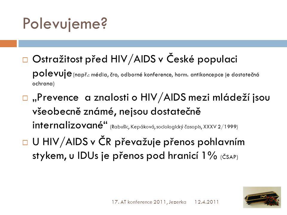 Statistiky  Statistické údaje v ČR nevzbuzují obavy Incidence HIV ČR: 180 (2010) 155 (2009) 148 (2008)  Relativně nízké počty nakažených HIV, klesající incidence HVC mezi IDUs v ČR  Zkreslení dat zjišťováním v rizikové populaci, odhady (nejrizikovější populace nebývá vyšetřena) Zdroj: ČSAP, NMS 2009 http://virova-hepatitida.cz/hepatitida_typu_c národní referenční laboratoř pro AIDS 12.4.2011 17.
