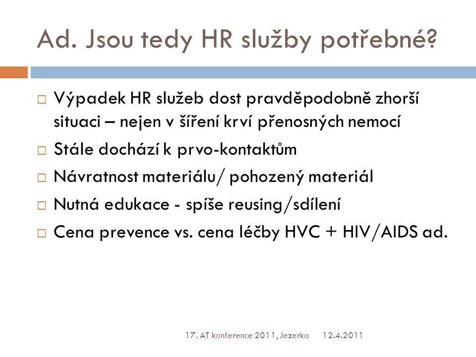 Ad. Jsou tedy HR služby potřebné.
